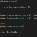 register objects in a container