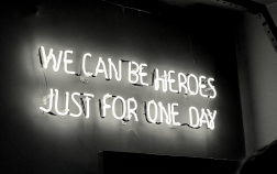 We can be heroes led visual